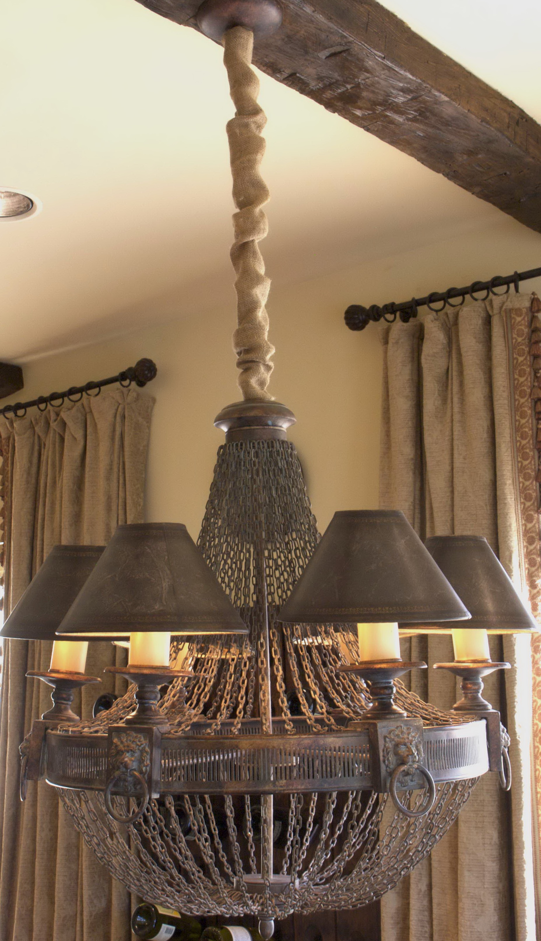 Chandelier Chain Cord Cover Home Design Ideas