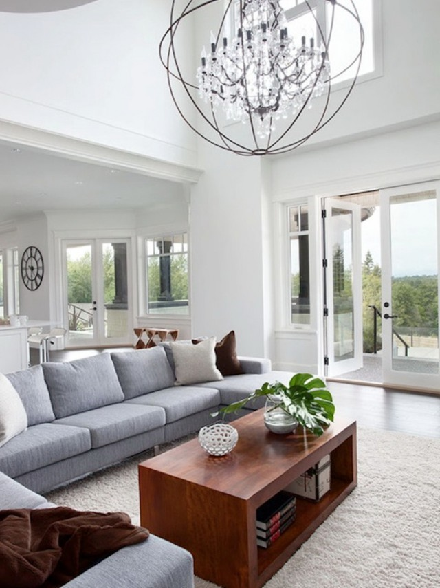 Chandelier In Living Room Height