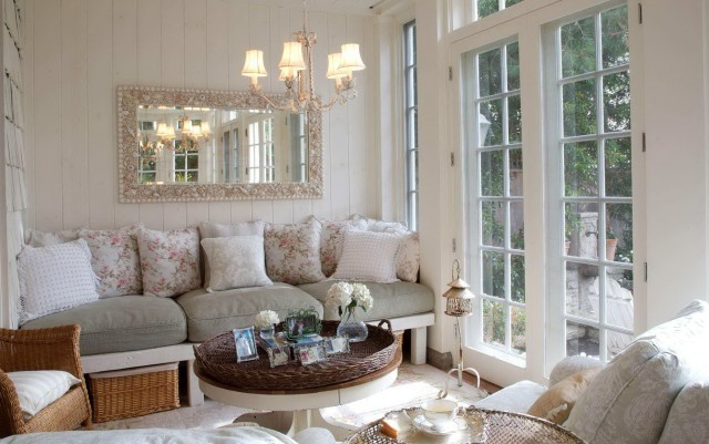 Chandelier In Small Living Room
