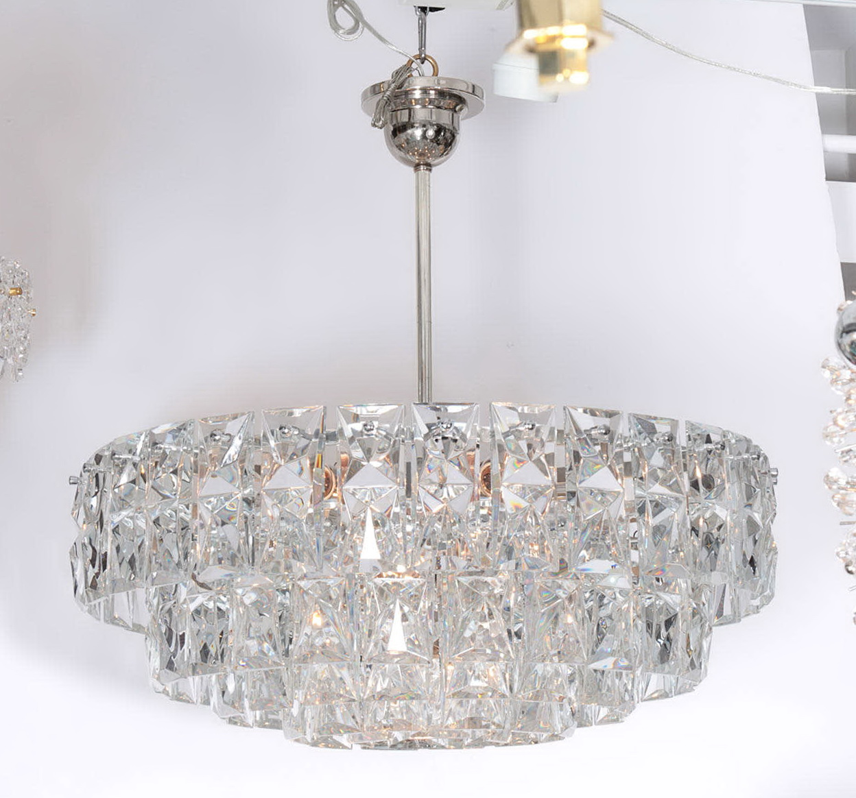 lucite prism chandelier furniture lighting vintage designer viyet