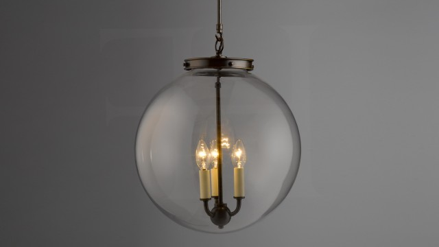 Clear Glass Globe Chandelier