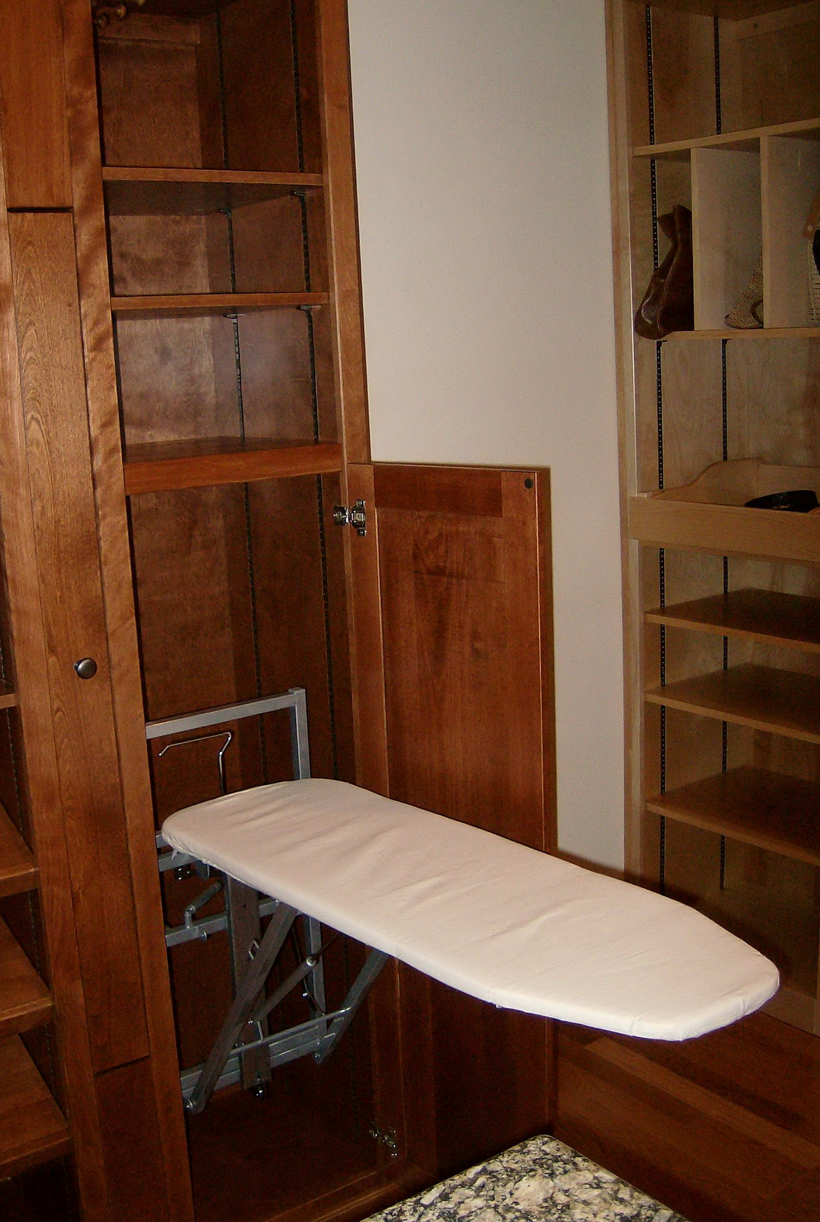 Closet Ironing Board System