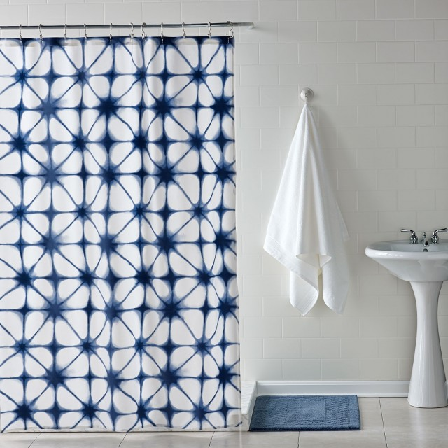 Cobalt Blue And White Curtains