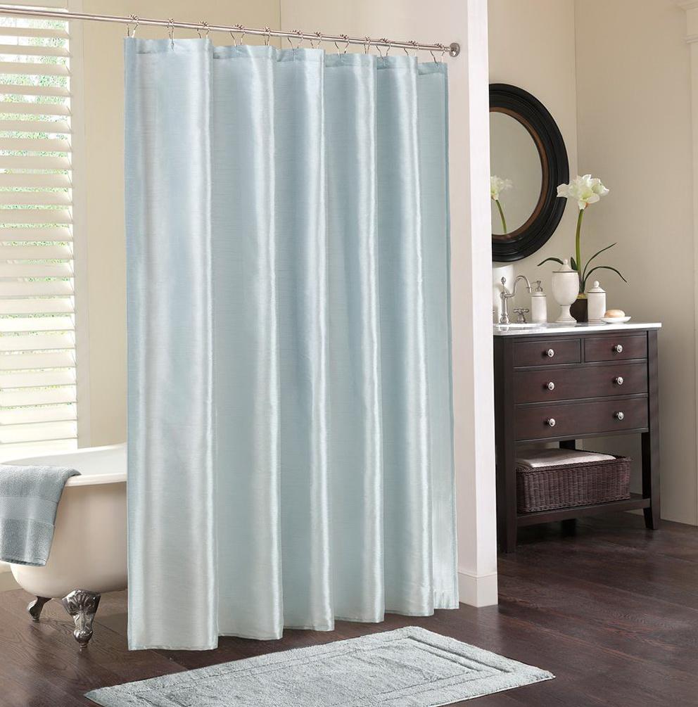 Color Block Curtains Blue