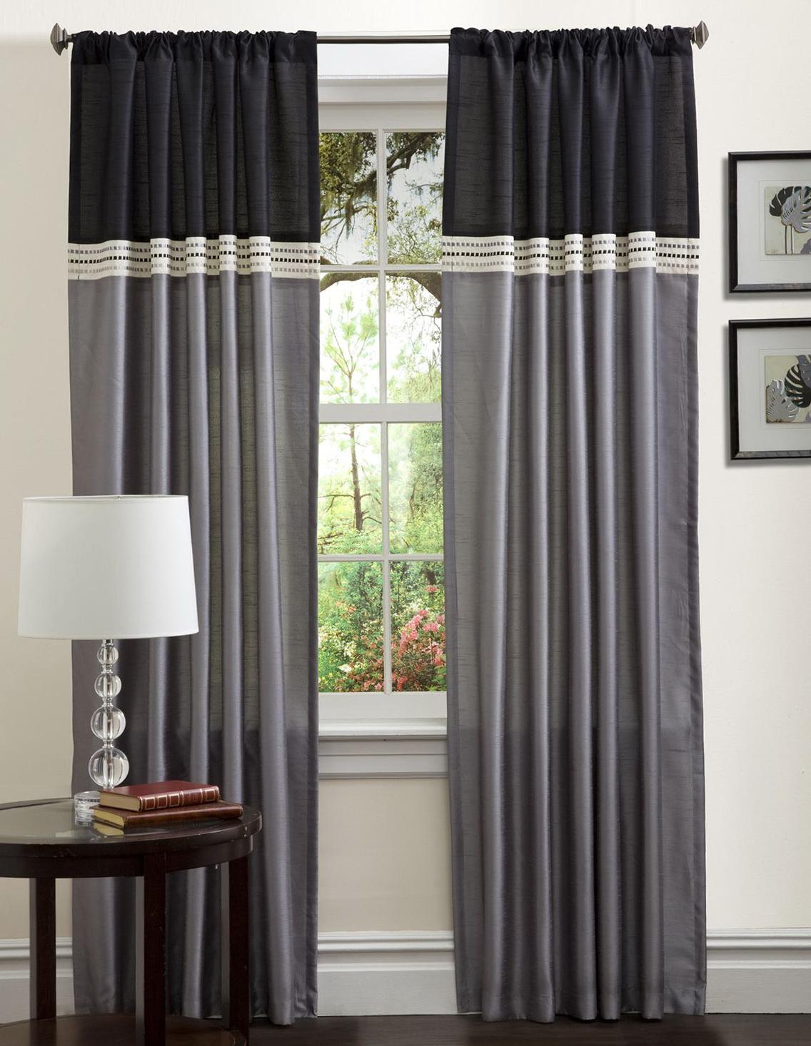 Curtain color ideas color block curtains diy home design ideas for Curtain color ideas living room