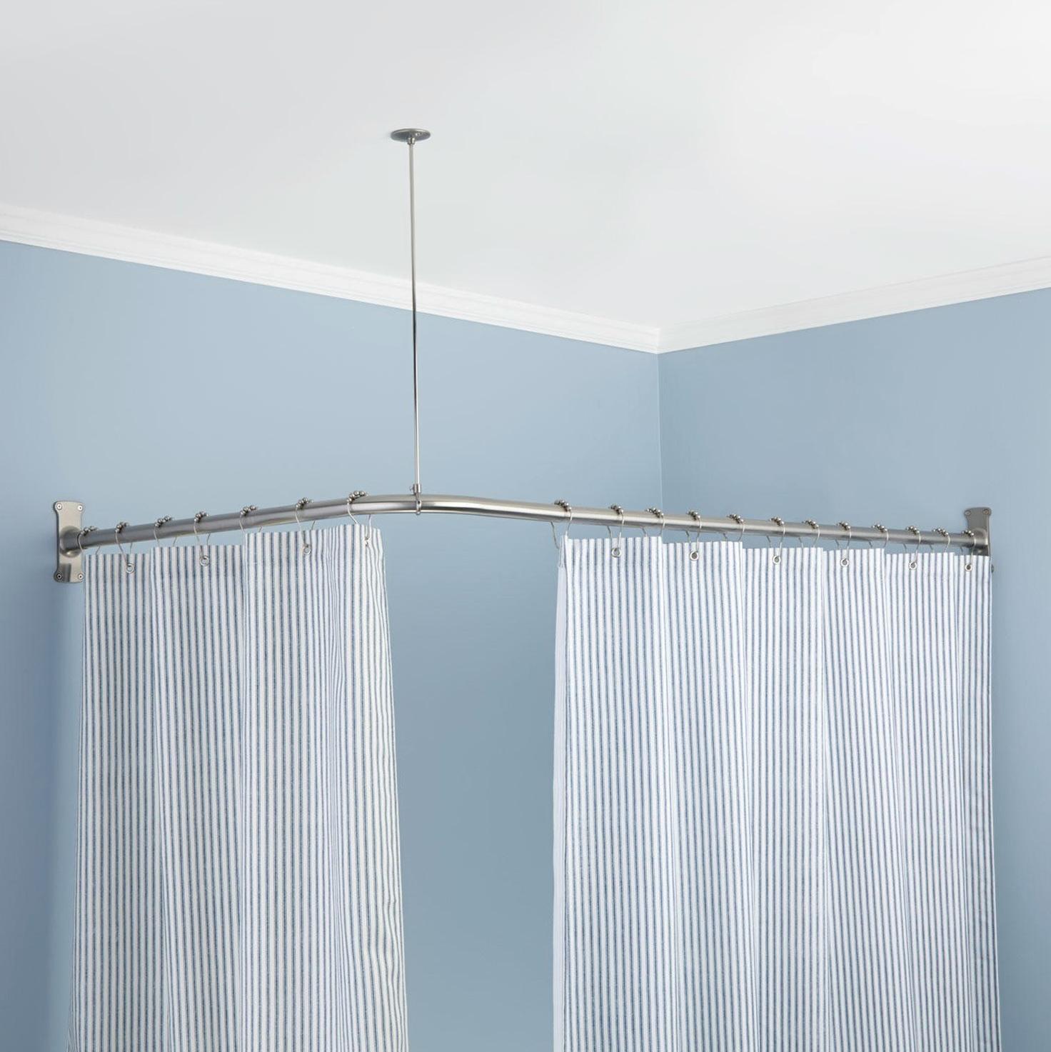 Corner Curtain Rods Home Depot