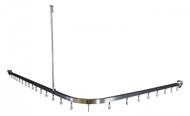 Corner Shower Curtain Rod Ceiling Support