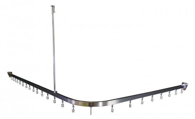 Round Corner Shower Curtain Rod Home Design Ideas