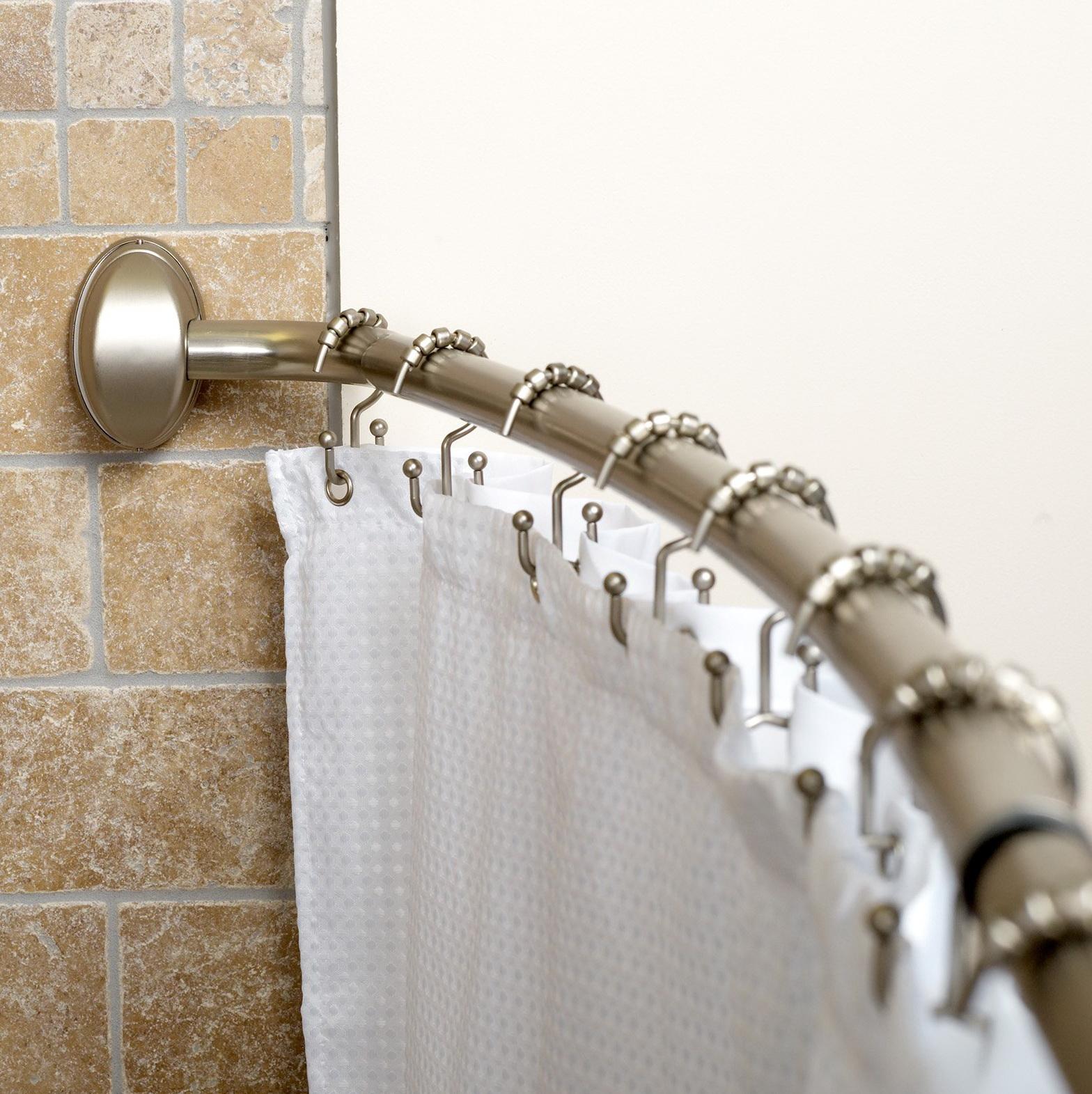 Corner Shower Curtain Rod Walmart Home Design Ideas
