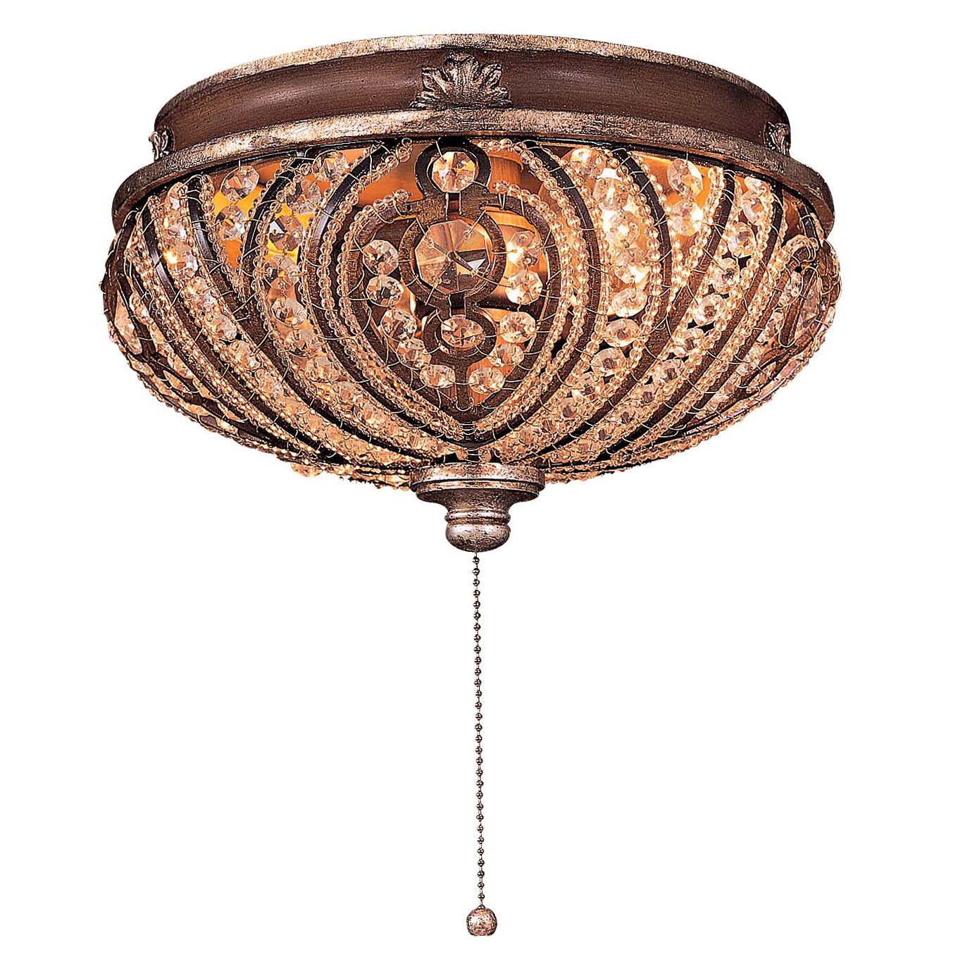 Crystal Chandelier Light Kit For Ceiling Fan
