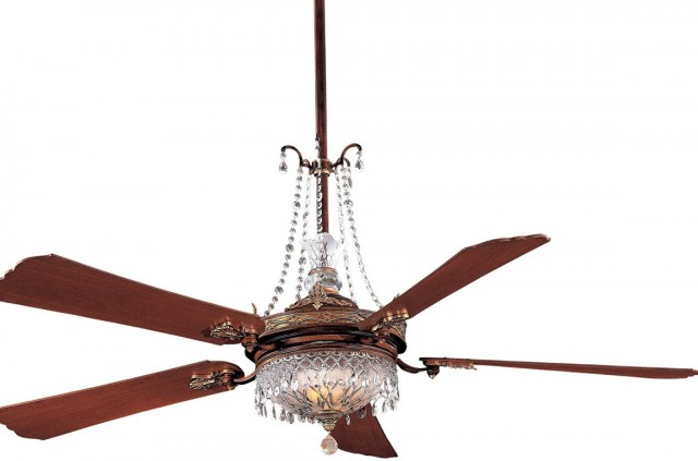 Crystal Chandelier With Fan