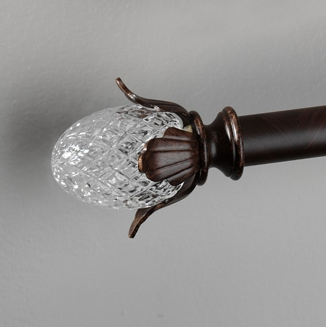 Curtain Rod Finials Glass
