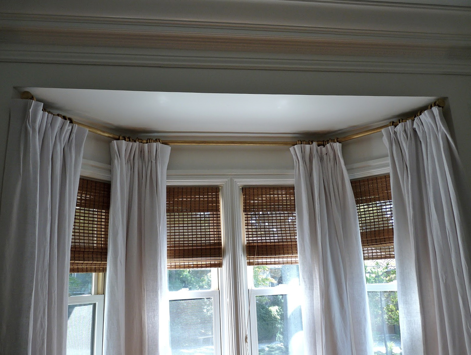 Curtain Rods For Bay Windows Home Depot Home Design Ideas