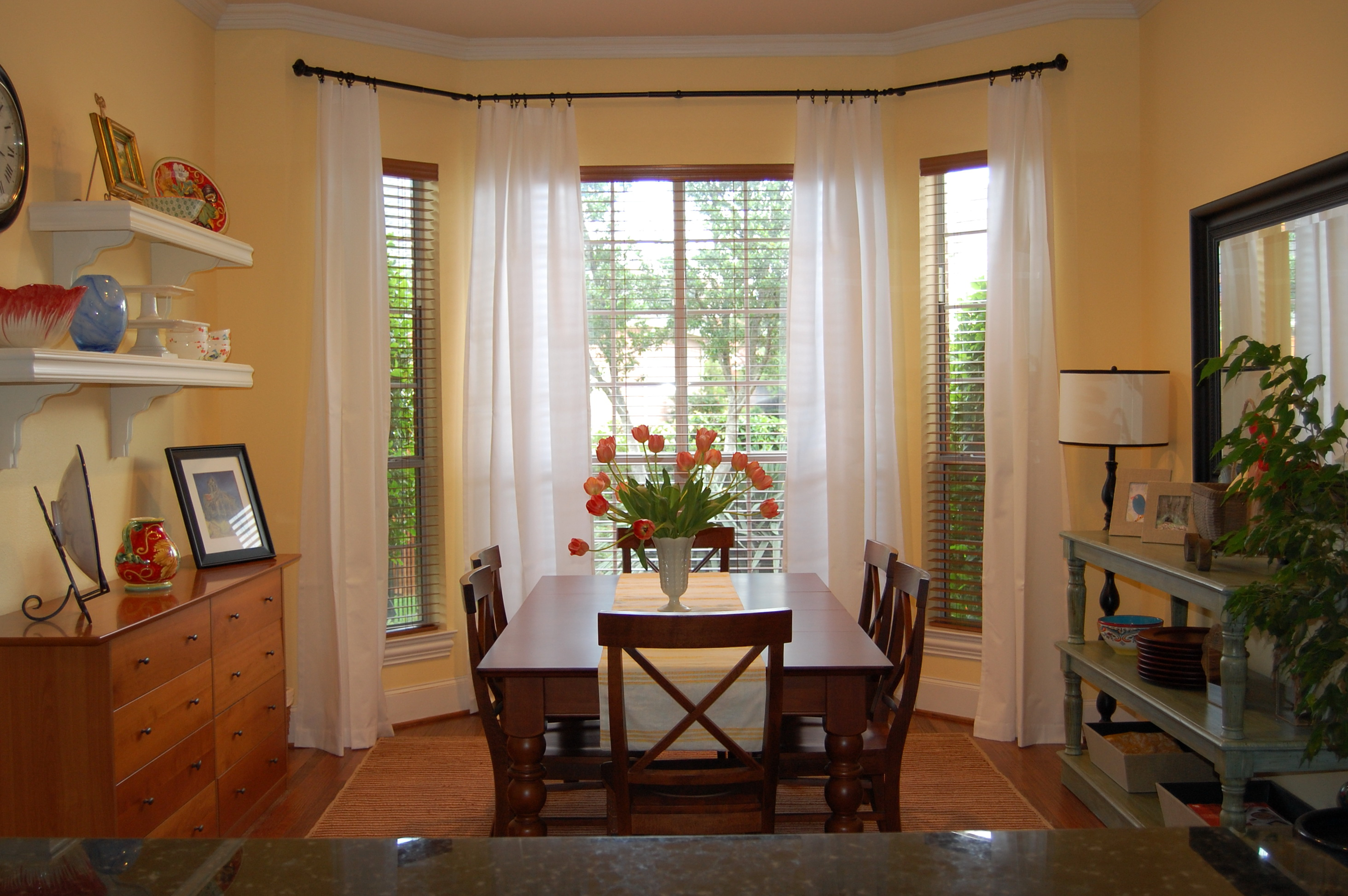 Curtain Rods For Bay Windows Ideas