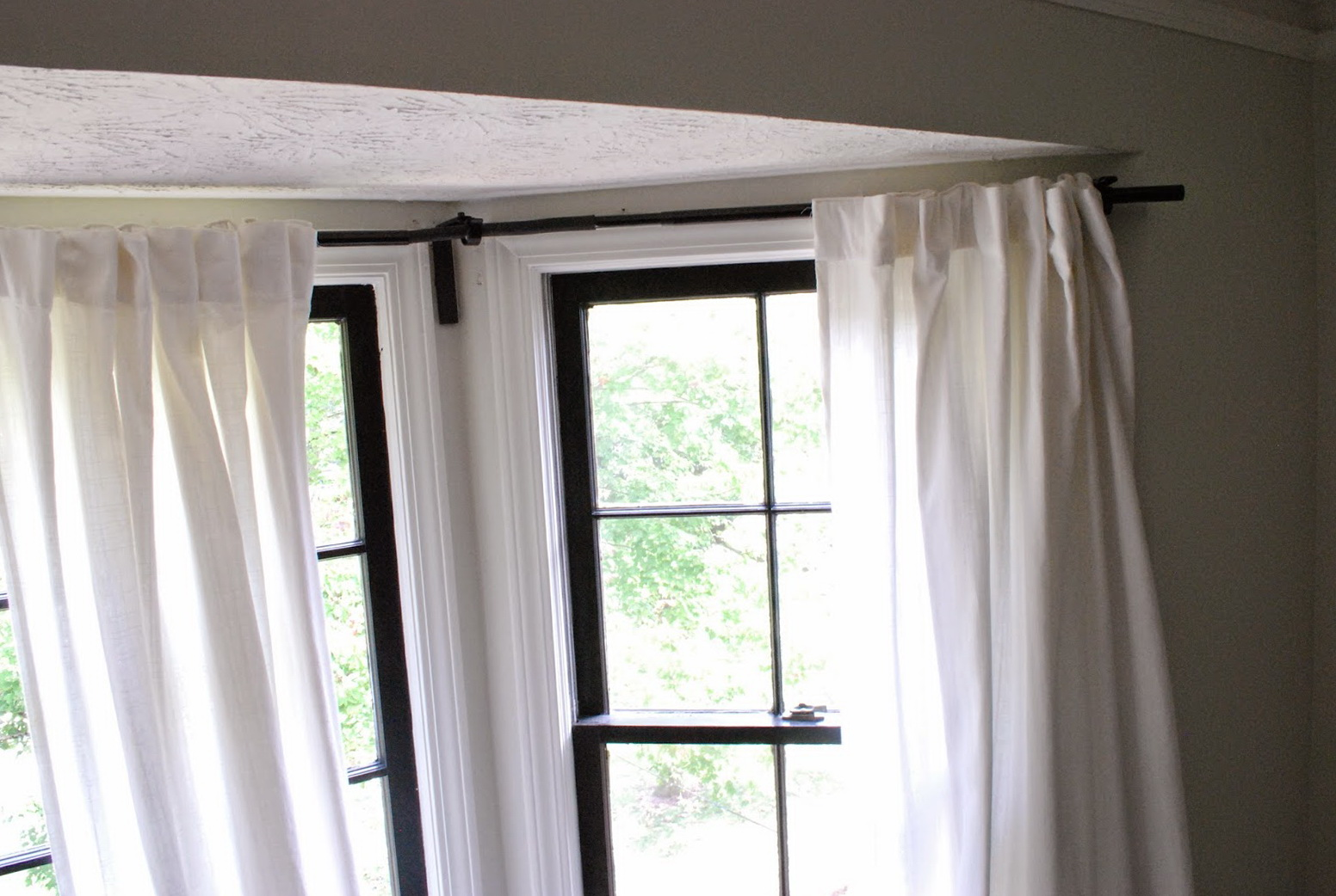 Curtain Rods For Bay Windows Ikea Home Design Ideas