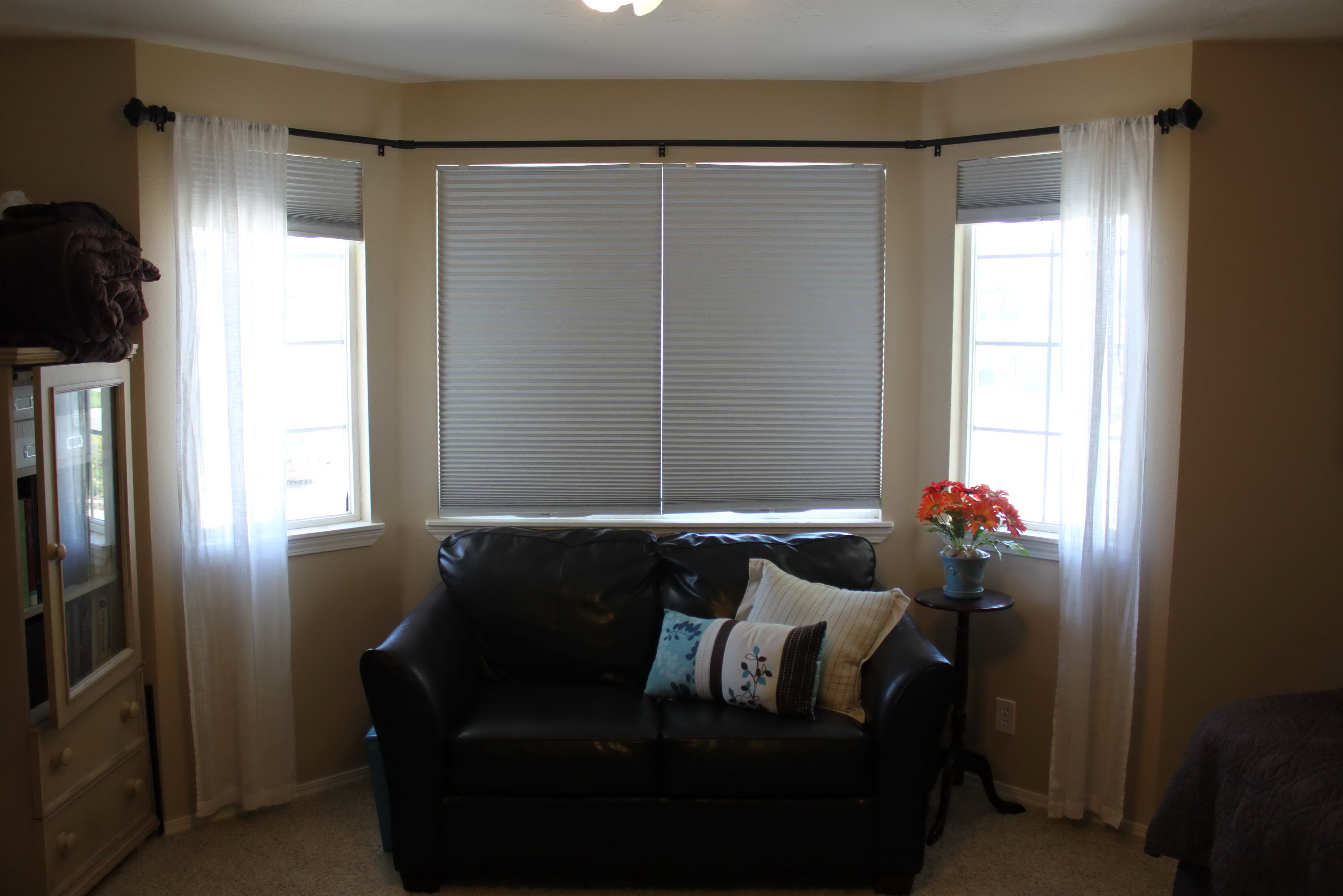 Curtain Rods For Bay Windows Lowes Home Design Ideas