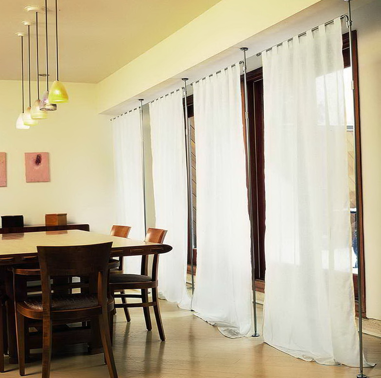 Curtain Room Dividers Tracks Single Track System Medium Image For Sliding Glass Panels Room