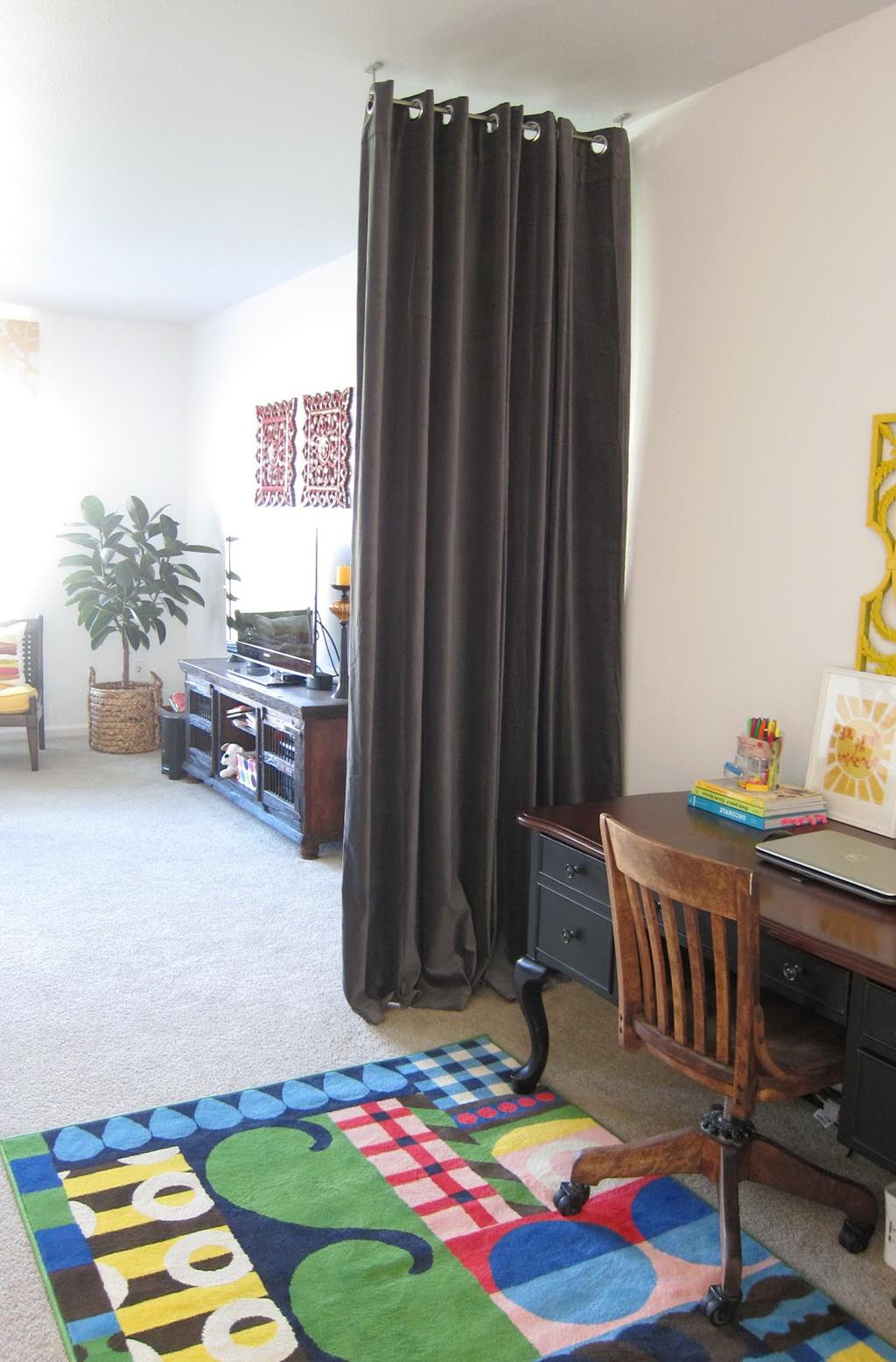 Curtain Room Dividers Diy Home Design Ideas