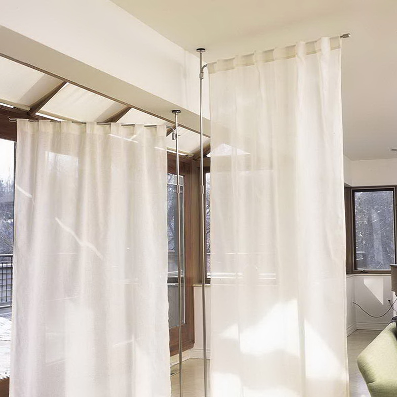 Curtain room dividers ideas home design ideas - Room divider curtain ideas ...