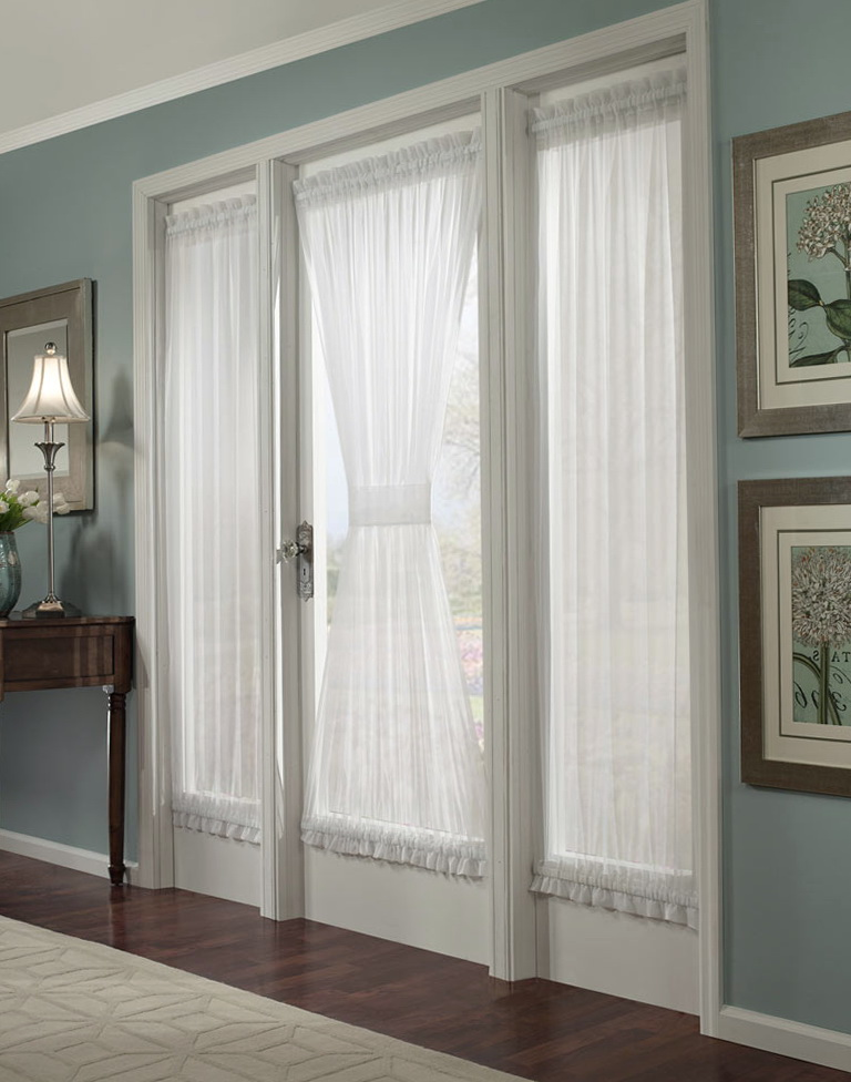 Curtains for french doors with side windows home design for French doors with windows on each side