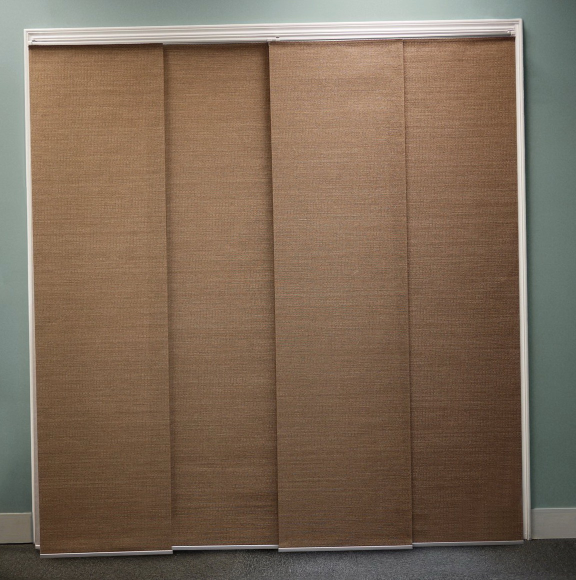 Curtains for sliding glass doors with vertical blinds for Sliding glass doors curtains