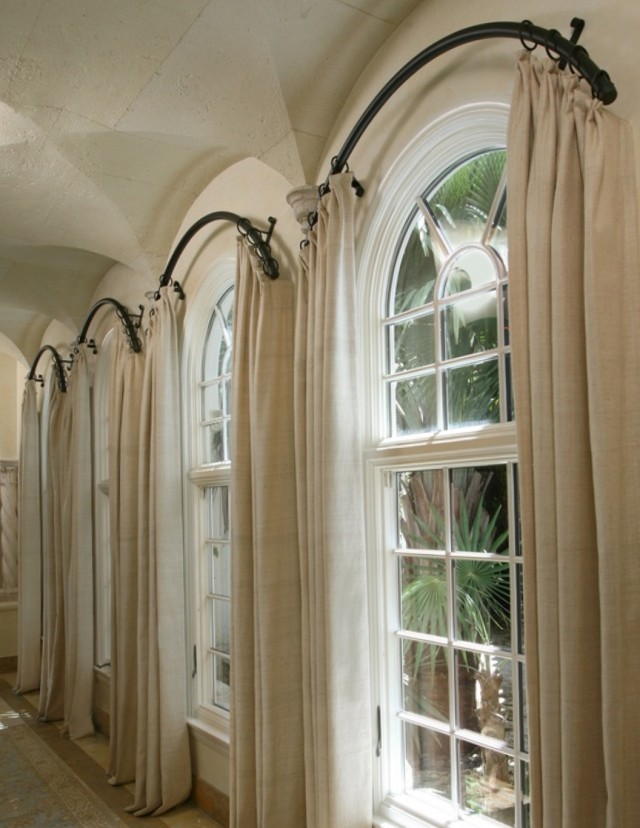 Curved Curtain Rod For Arch Window