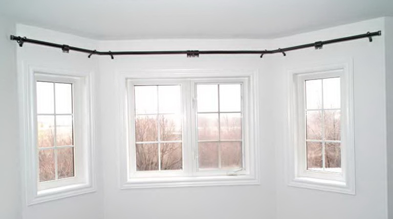 Curved curtain rod for bow window home design ideas for Curved bay window