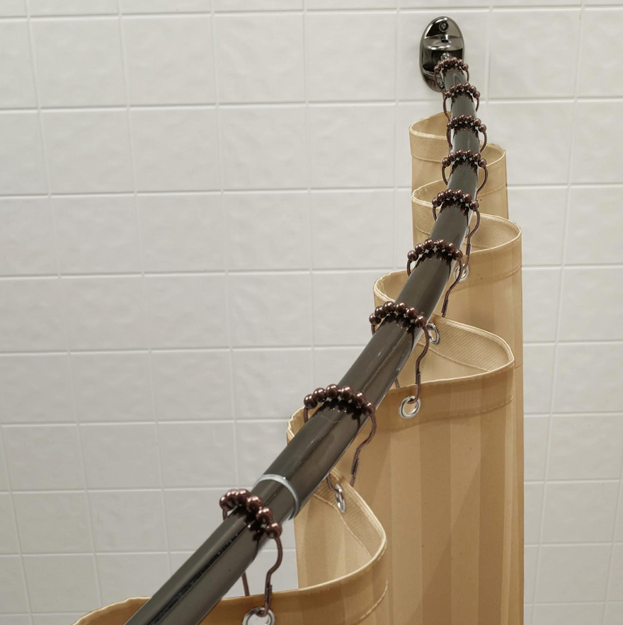 Curved Shower Curtain Rod Installation Home Design Ideas