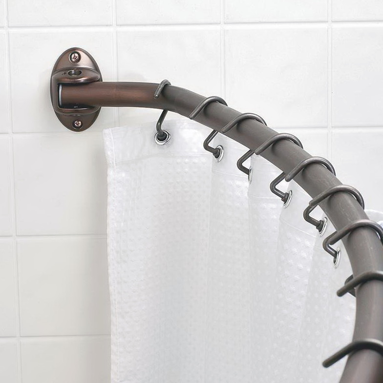 Curved Shower Curtain Rod Oil Rubbed Bronze Home Design