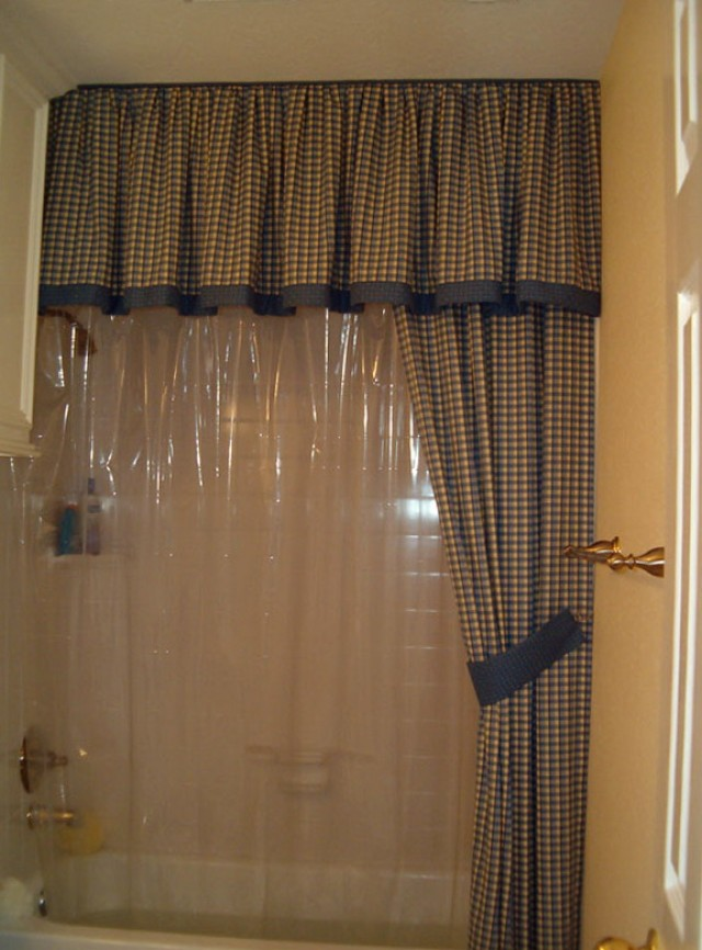 Split Shower Curtains With Valance Home Design Ideas