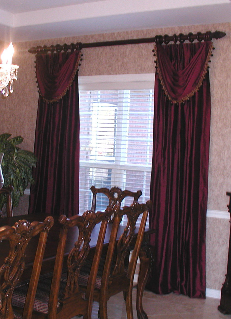 Dining room curtains drapes home design ideas for Dining room valance ideas