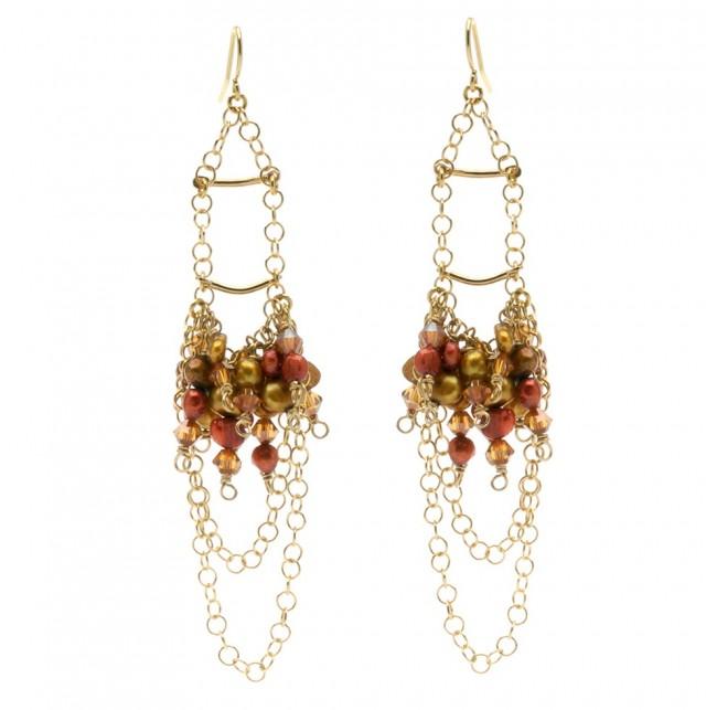 Diy Beaded Chandelier Earrings