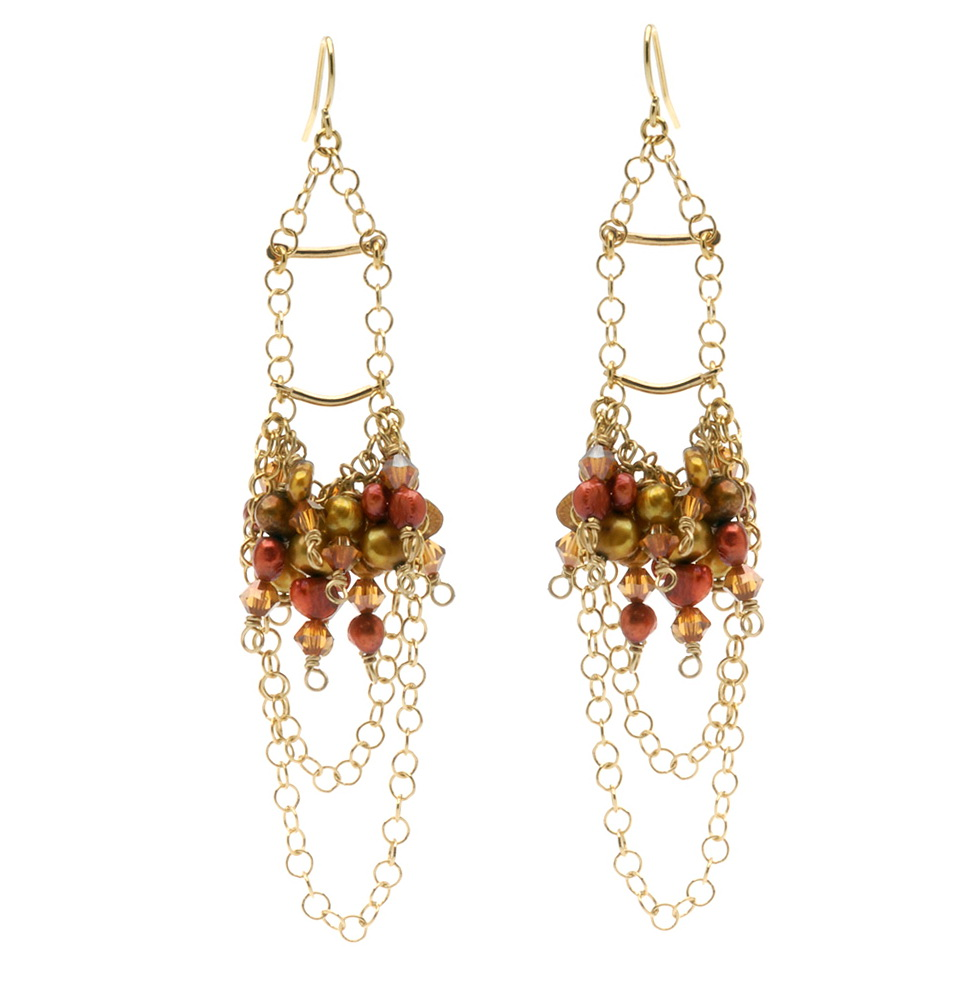 Diy Beaded Chandelier Earrings