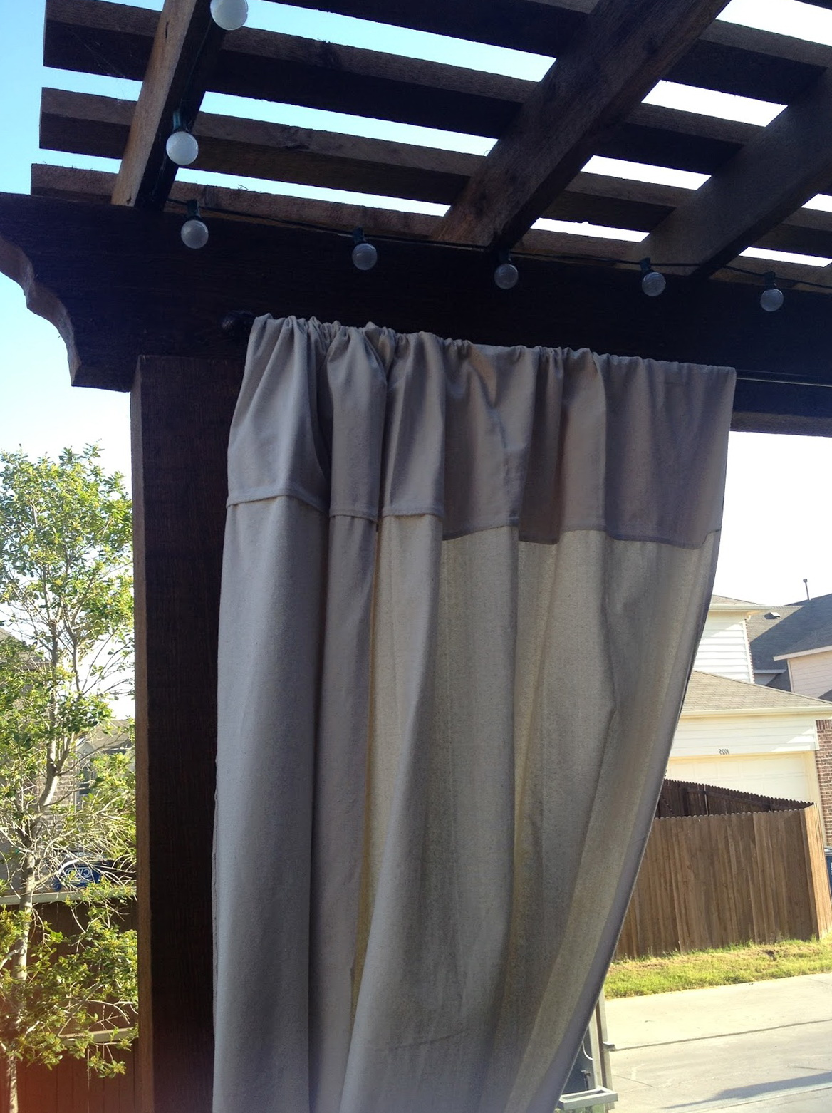Diy Outdoor Curtains For Patio Home Design Ideas