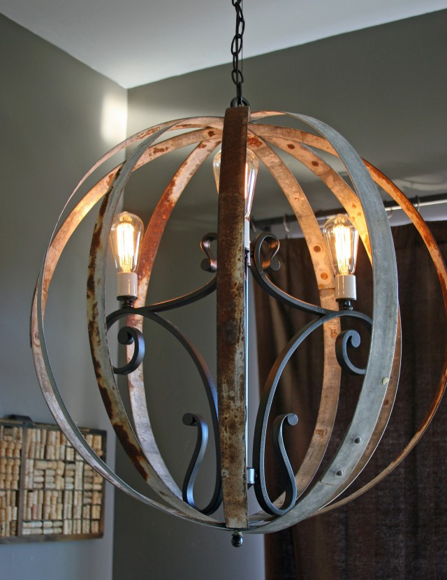 Diy Wine Barrel Chandelier