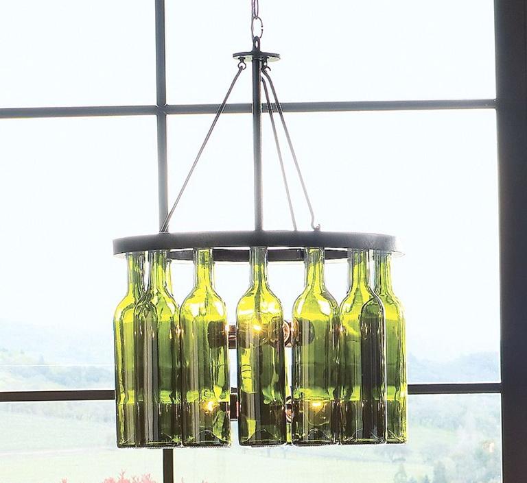 Diy Wine Bottle Chandelier Kit Home Design Ideas