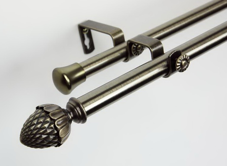 Double Bay Window Curtain Rods