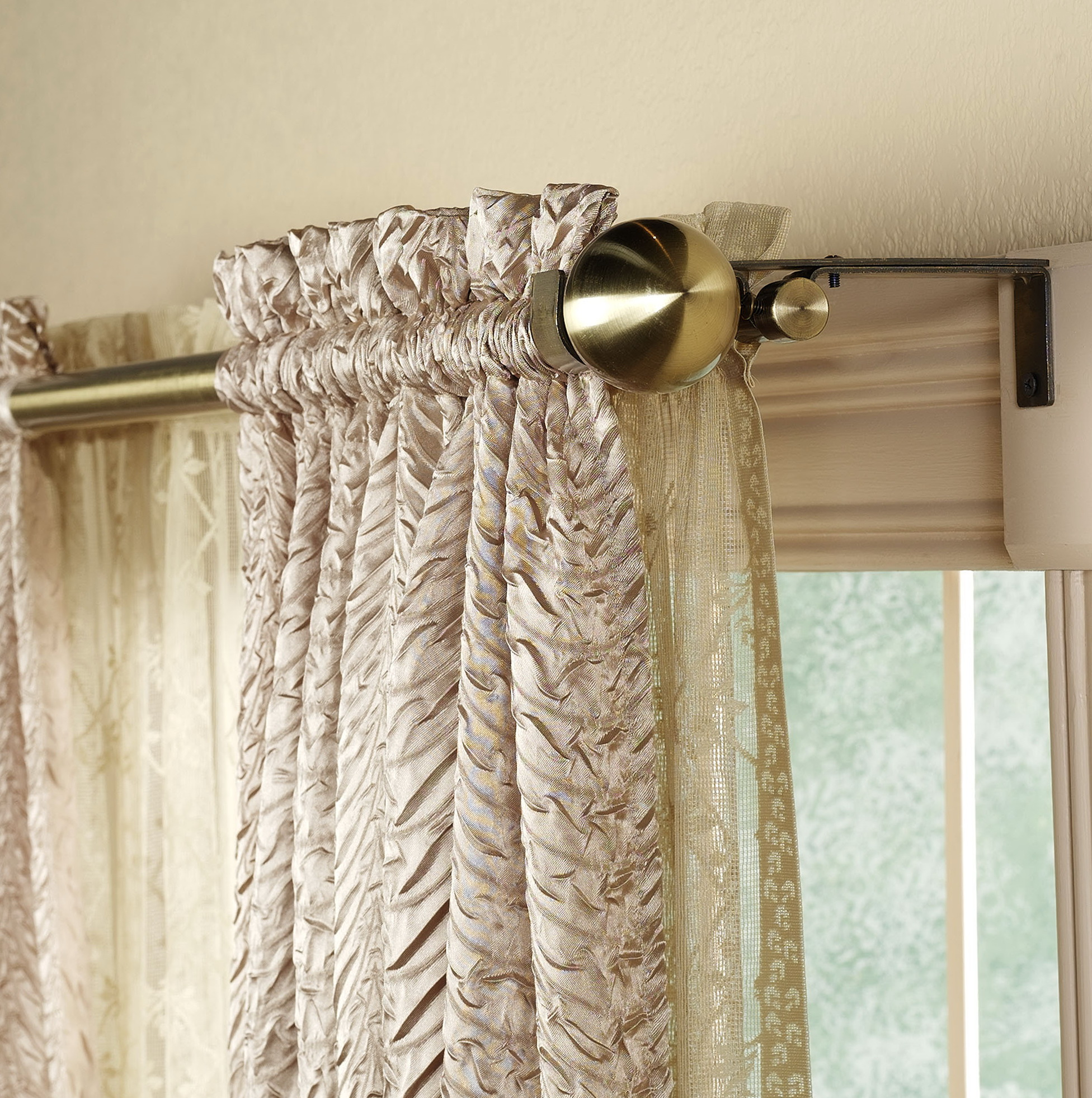 Double Curtain Rods Online India Home Design Ideas