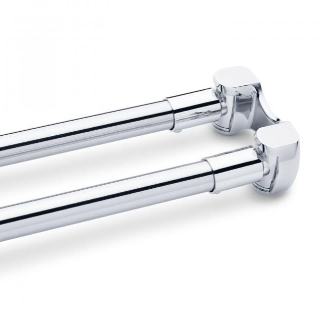 Double Shower Curtain Rod Chrome