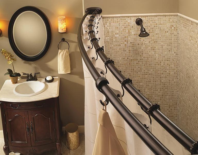 Double Shower Curtain Rod Straight Home Design Ideas