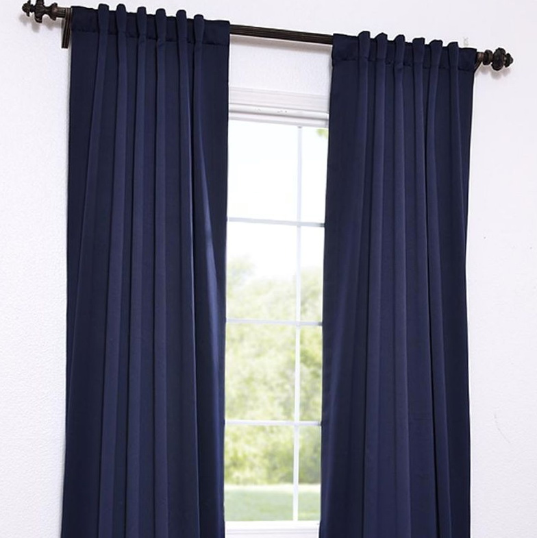 Eclipse Blackout Curtains Navy