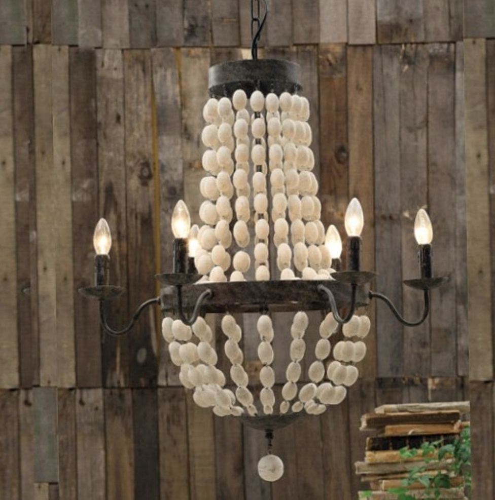 Elena Wood Bead Chandelier Home Design Ideas