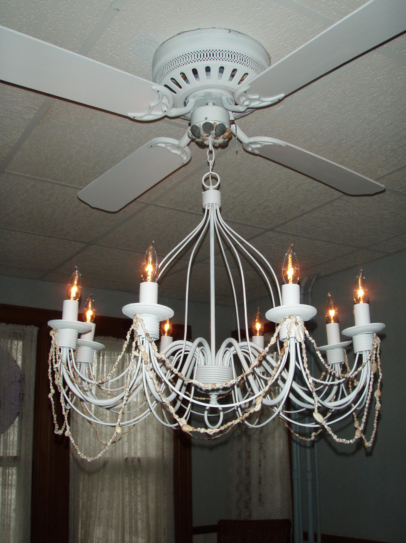 Fan With Chandelier Light