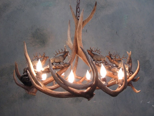 Faux Antler Chandelier For Sale