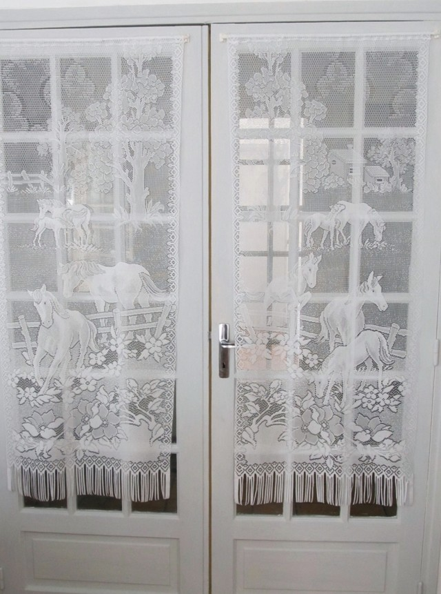 French Door Curtains Velcro Home Design Ideas