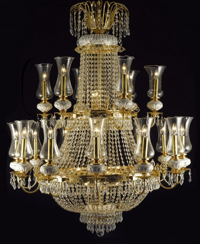 French Empire Crystal Chandelier Lighting H50 X W30