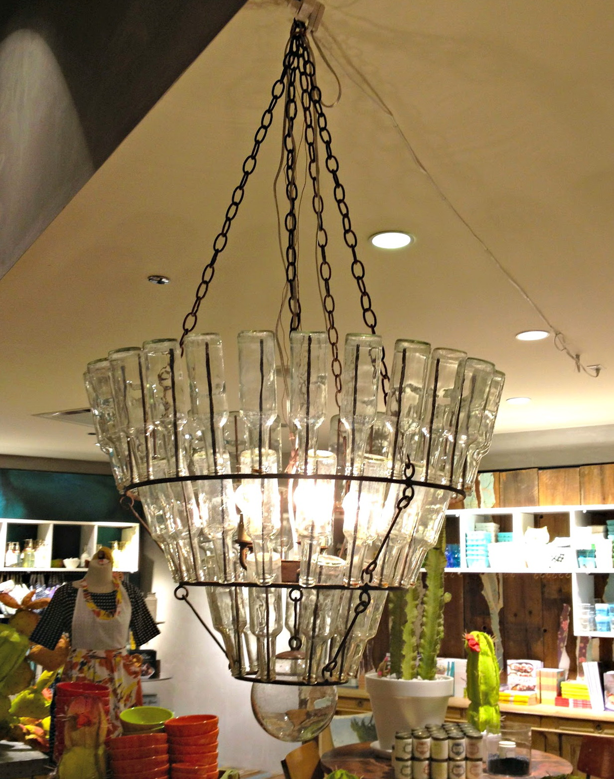 glass bottle chandelier diy home design ideas