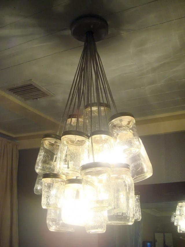 Glass Jar Chandelier Diy
