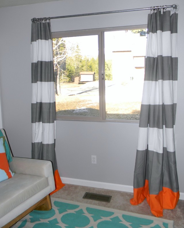 Gray And White Curtains For Nursery