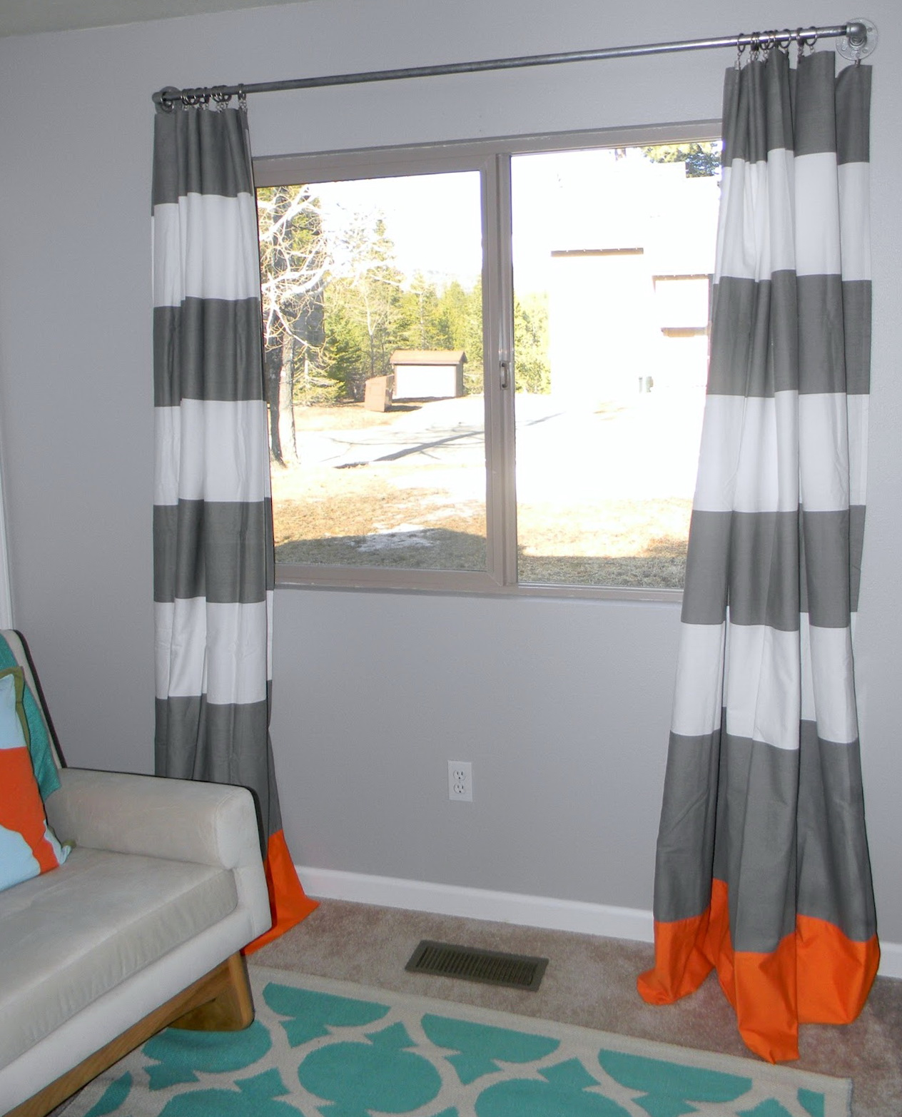 Gray And White Curtains For Nursery Home Design Ideas